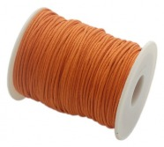 Baumwollband gewachst, orange, 1.5mm x 100cm - Meterware...