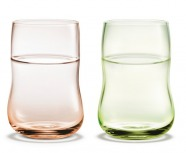 Holmegaard Future Glas rose/ hellgrün 2er Set 25 cl
