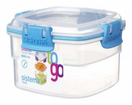 Sistema Snackbox To Go quadratisch blau 400 ml