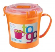 Sistema Suppentasse To Go rund orange 656 ml