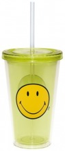 ZAK Smiley Becher mit Trinkhalm grün 49 cl