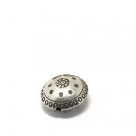 Linse india/ traditional - patiniert, 925 Silber, 18x10mm
