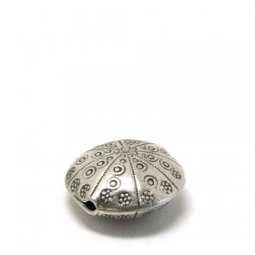Linse india/ traditional - patiniert, 925 Silber, 25x13mm