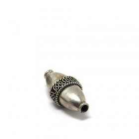 Olive india/ traditional - patiniert, 925 Silber, 26x12mm
