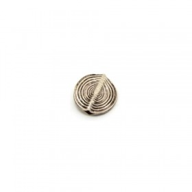 Scheibe african traditional, 925 Silber, 13x3mm