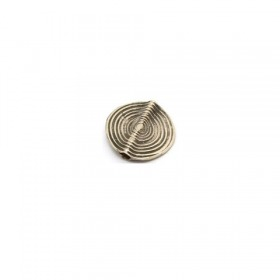 Scheibe african traditional, 925 Silber, 15x3mm