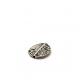 Scheibe african traditional - patiniert, 925 Silber, 17x1mm