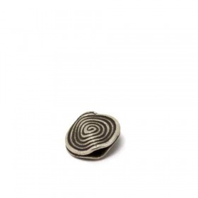 Scheibe african traditional - patiniert, 925 Silber, 17x2mm