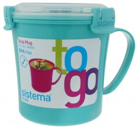 Sistema Suppentasse To Go rund blau 656 ml